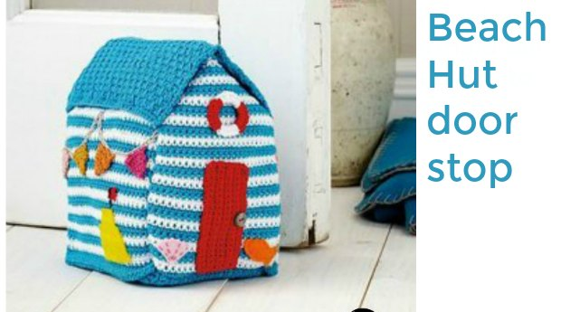 crochet doorstop beach hut