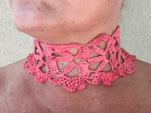 Crochet Lace Choker Free Pattern by Kristin Omdahl