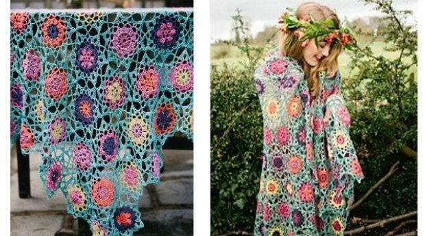 summer garden shawl crochet pattern