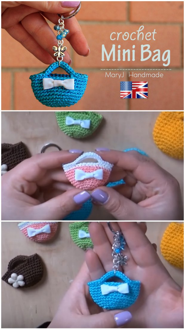 Crochet Keyring Tiny Purse Pattern