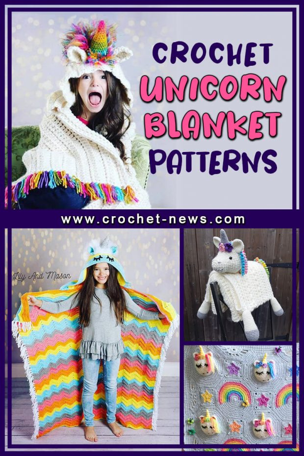 CROCHET UNICORN BLANKET PATTERNS