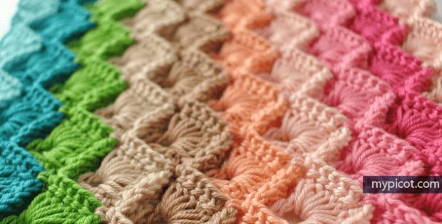 Crochet Box Stitch Blanket Pattern