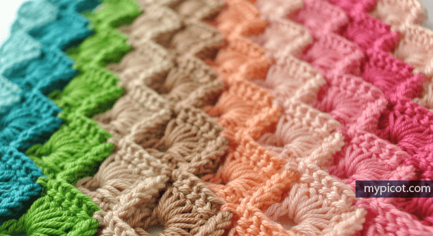 Box Stitch Crochet Blanket Pattern