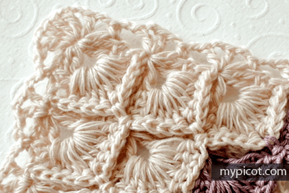 Crochet Box Stitch Triangle Shawl Pattern