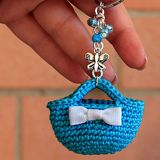Crochet Keyring Free Mini Bag Pattern