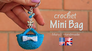 Crochet Keyring Mini Purse