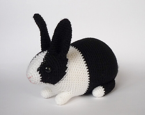 Classic Amigurumi Bunny Crochet Pattern - Once Upon a Cheerio | 396x500