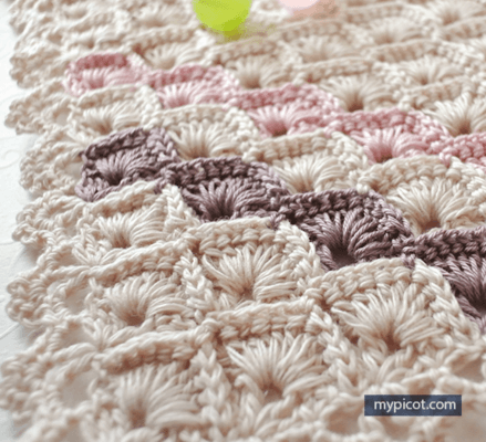 Free Crochet Box Stitch Pattern Shawl