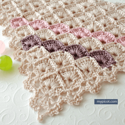 Free Crochet Triangle Shawl Box Stitch Pattern