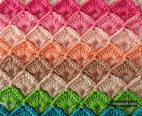 Free US and UK Box Stitch Crochet Tutorial