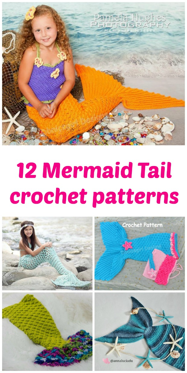 Crochet Blanket Patterns - Mermaid Tail Blanket