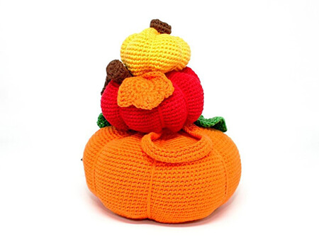 Pumpkin Stack Doorstop Pattern By Patterns by steph