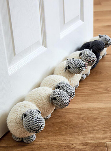 Sheep Amigurumi Doorstop Pattern By AmigurumiBarmy
