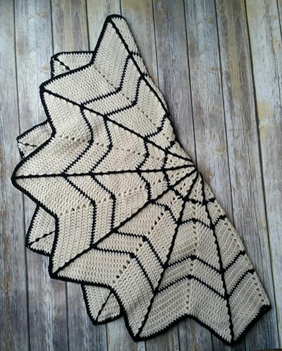 Spider Web Blanket Crochet Pattern By croShangriLa
