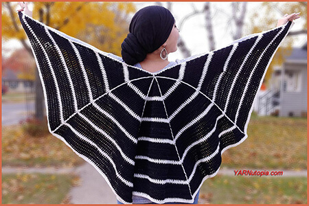 Spider Web Wrap Crochet Pattern By YARNutopia