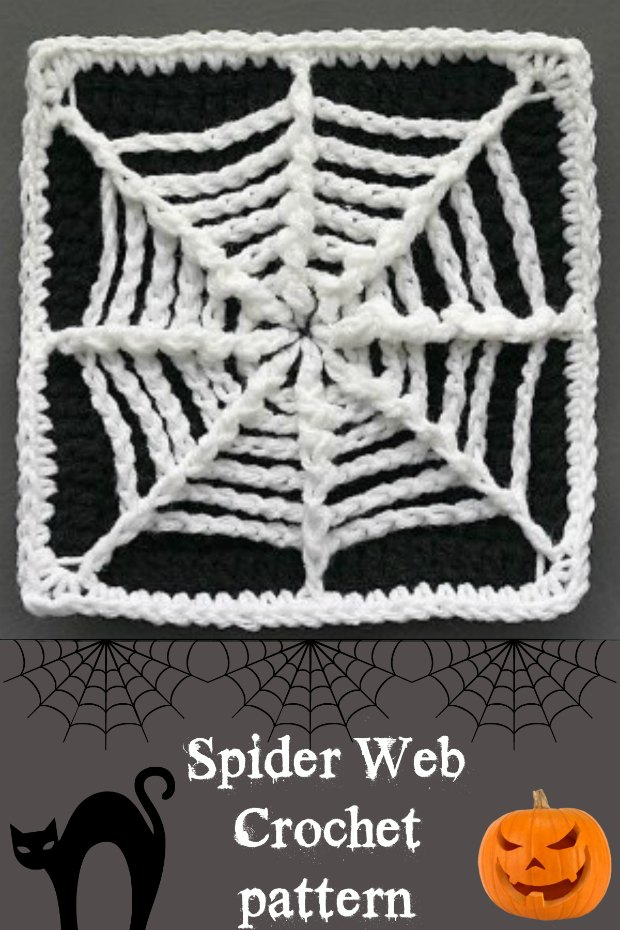 Crochet Spider Web Coaster Pattern
