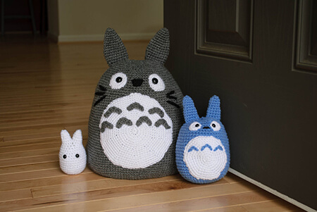 Totoro and Friend 3-pack Doorstop Pattern By MaysCraftCabin
