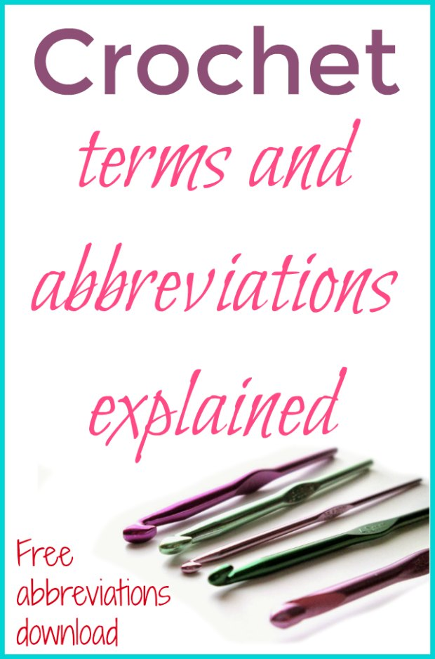 Crochet Abbreviations Explained Learn The Lingo