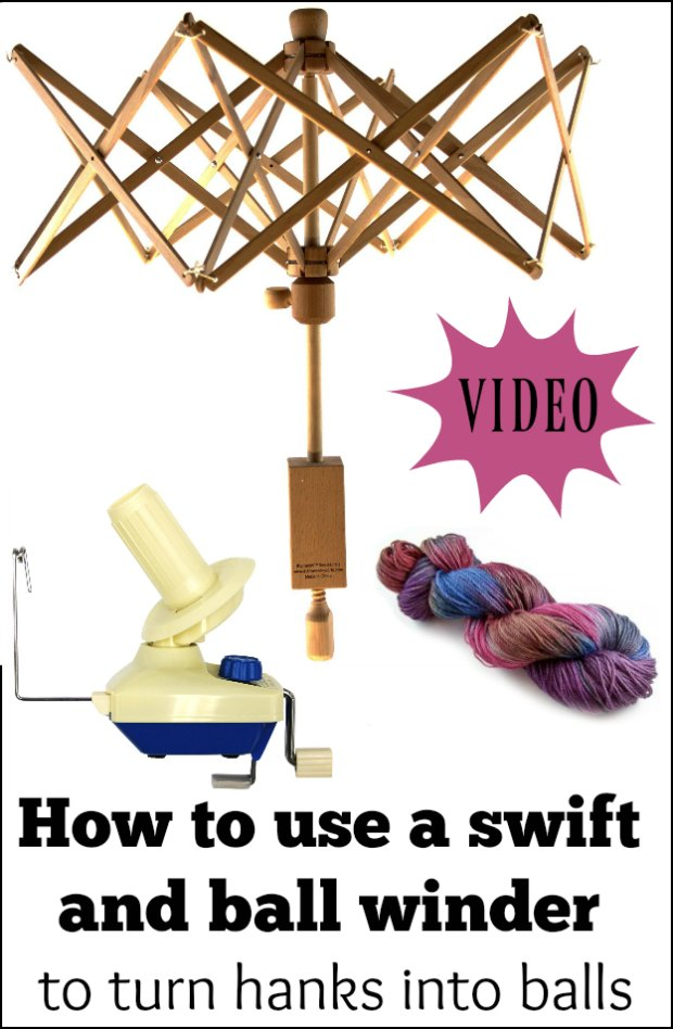 Video for how to use a swift and ball winder to turn hanks and skeins into balls and cakes