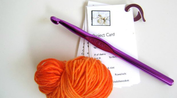 crochet project record cards