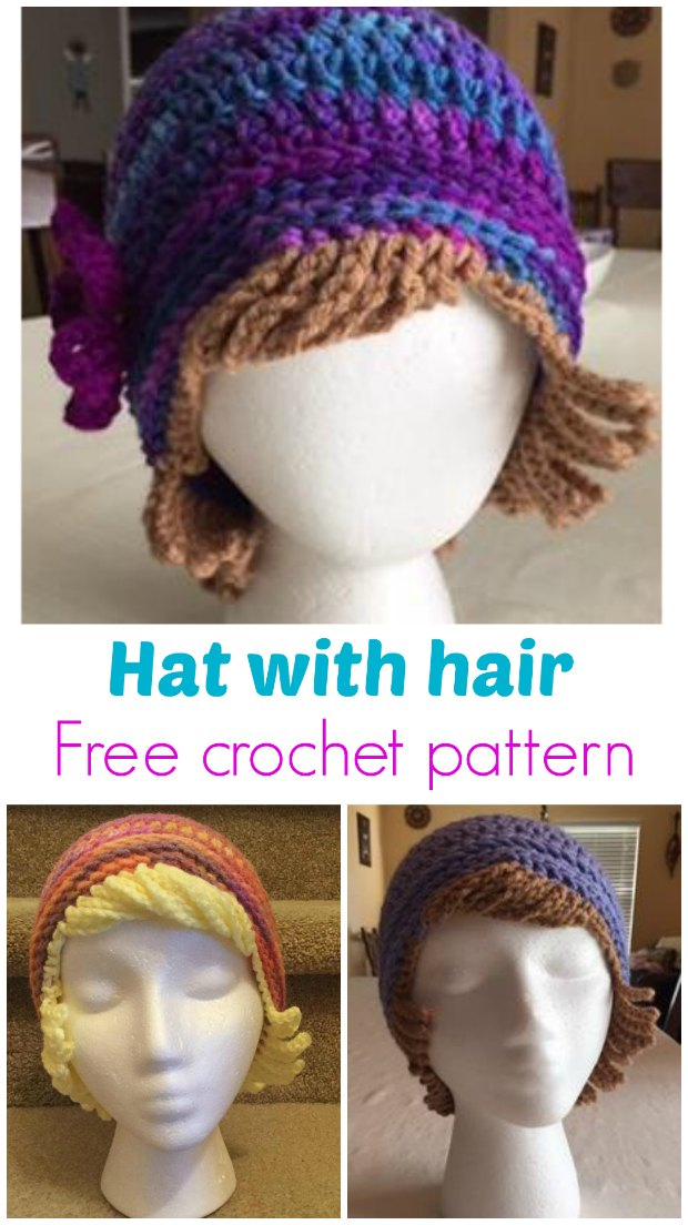 Crochet Chemo Hat With Hair Free Hat Pattern Crochet News