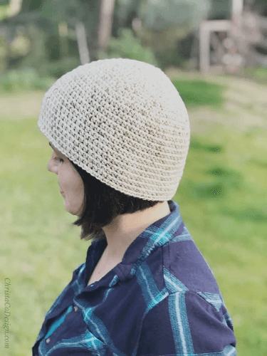 Cotton Crochet Chemo Cap Pattern by Christa Co Design