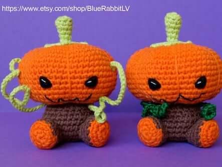 Halloween Pumpkin Crochet Amigurumi by Blue Rabbit Toys