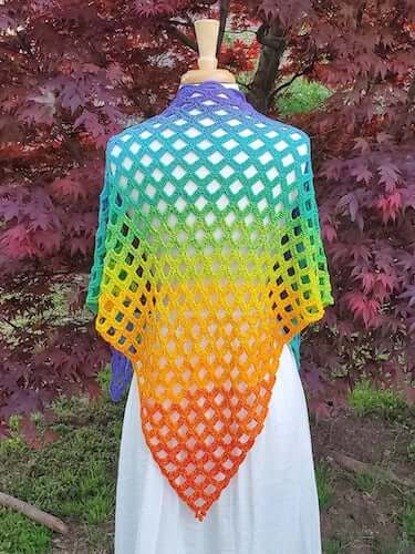 Scallop Falls Shawl Crochet Pattern by Crochet Instinct