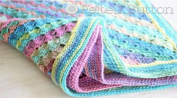 crochet baby blanket - spring into summer blanket
