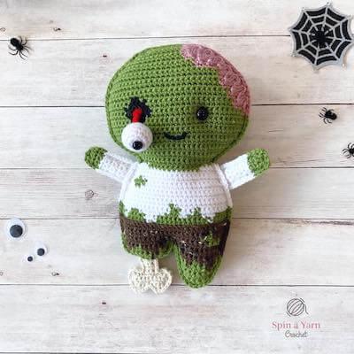 Zombie Free Crochet Pattern by Spin A Yarn Crochet