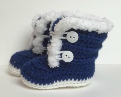 Crochet Baby Boots Pattern Fur Trim 3-12 Months Old - Crochet News