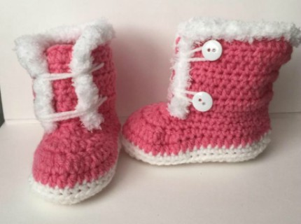 Crochet Baby Boots Free Pattern Size 6 - 9 months