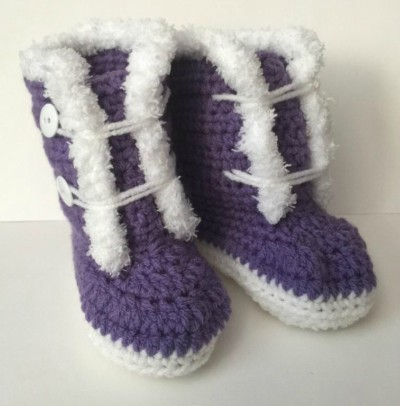 Crochet Baby Boots Free Pattern Size 9 - 12 months