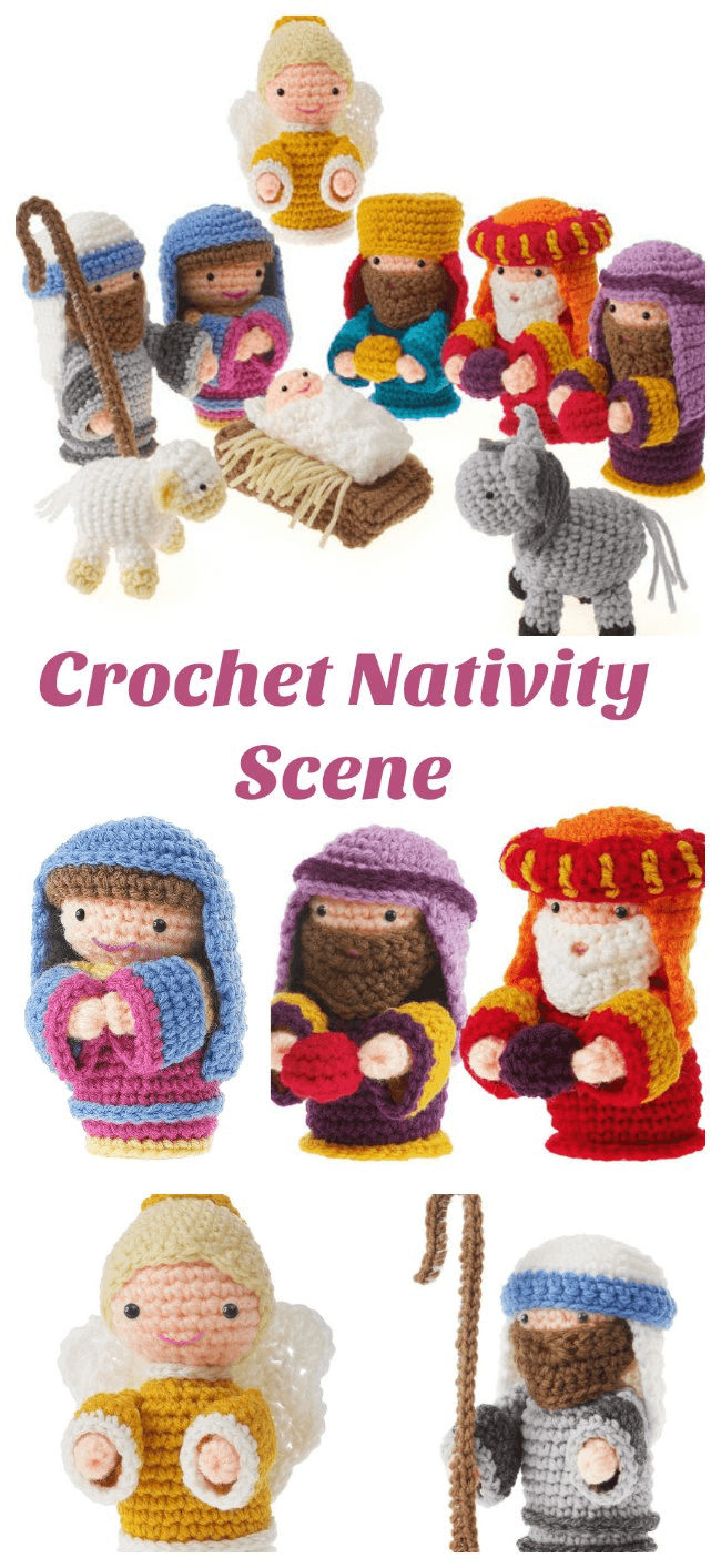 Free Crochet Christmas Nativity Scene Amigurumi Pattern
