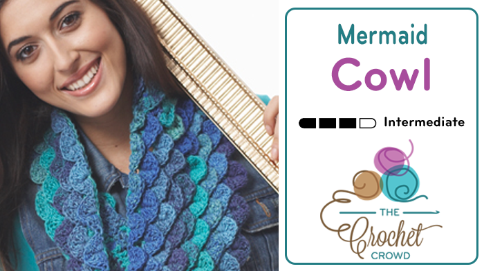 MMermaid Cowl Crochet Pattern Video Tutorial mermaid Cowl using the crocodile or scale stitch.