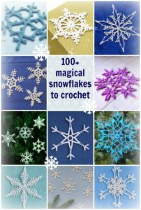 Magical collection of snowflake patterns to crochet. I love the variety, from beginner to advanced and all sorts of sizes and weights.