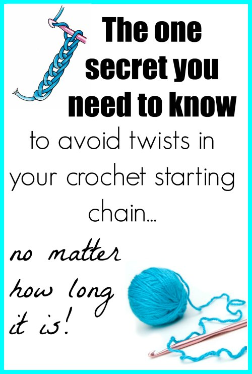 How To Avoid Twists In Long Crochet Chains