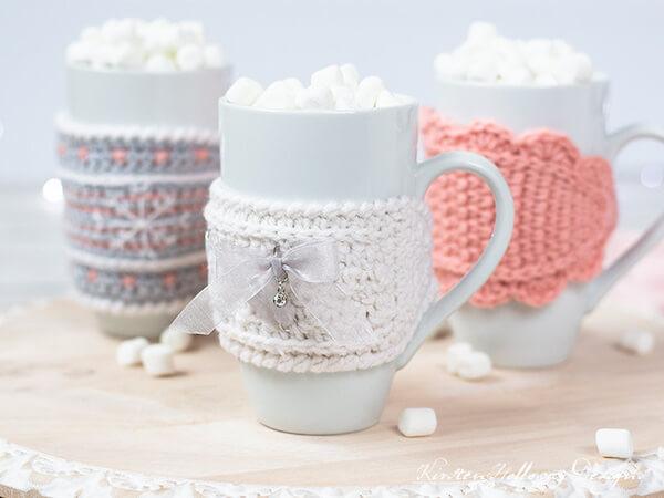 Crochet Mug Cozies Pattern by Kirsten Holloway Designs