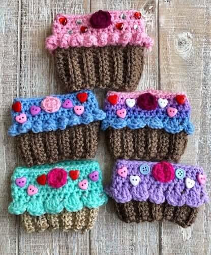 Cupcake Crochet Cozy Crochet Pattern by Fur Babies CB