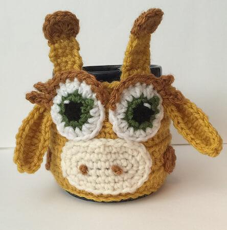 Giraffe Mug Cozy Crochet Pattern by Katerina Cohee