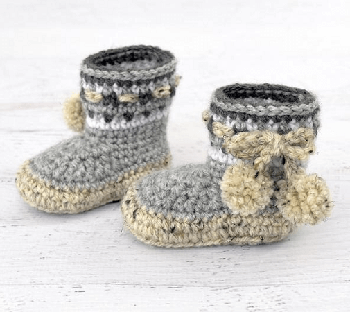 Nordic Baby Boots Crochet Pattern by Yarn Blossom Boutique
