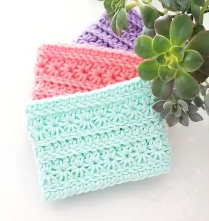 Posie Cozie Cup Cozy Crochet Pattern by Crochet Coterie Shop