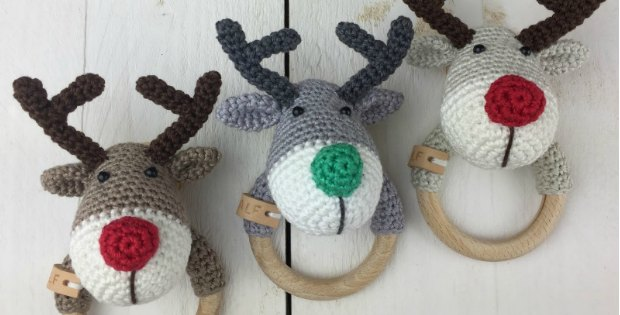 Crochet Reindeer Ralf Rattle Free Pattern