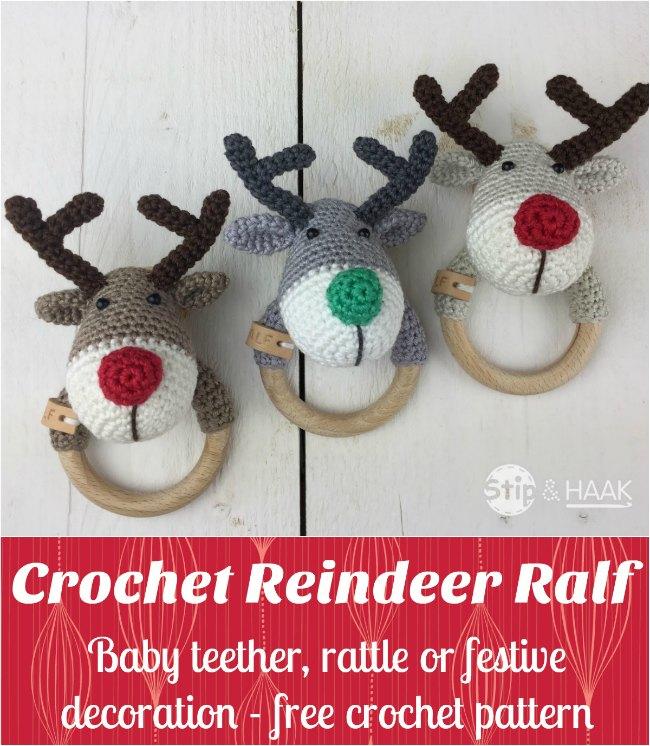 Crochet Reindeer Ralf Rattle Free Pattern Crochet News