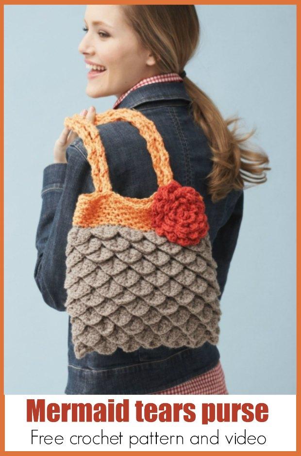 Crochet Mermaid Tears Purse Free Pattern And Video