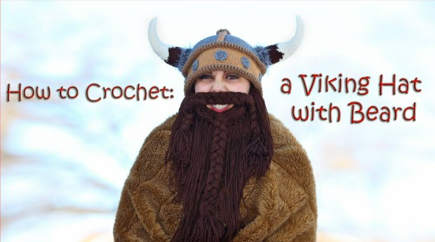 free pattern crochet viking hat