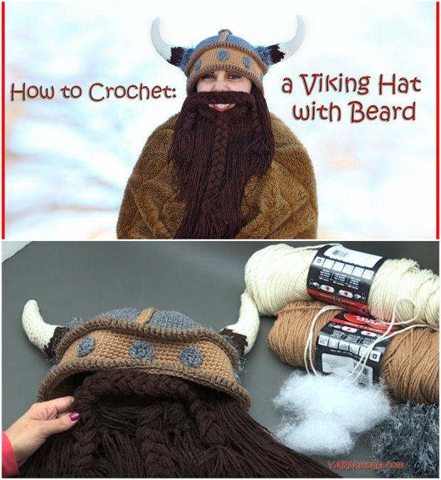 Crochet Viking Hat And Beard Pattern Free Tutorial Video Crochet News