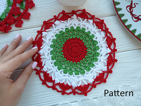 Crochet Christmas Table Decor Doily By HappyCreationsByVita