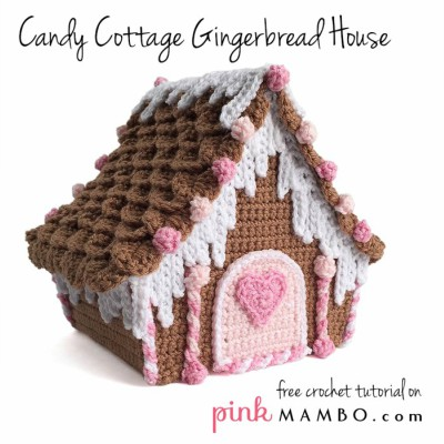free crochet Christmas gingerbread house pattern