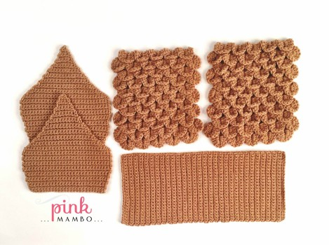 Crochet Gingerbread House Pattern Pieces